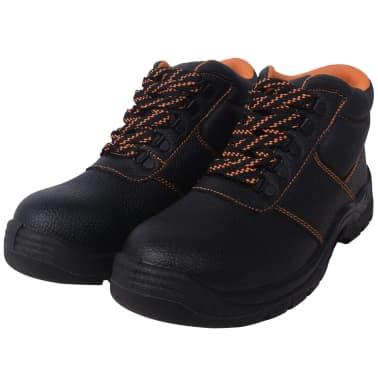 vidaXL Zapatos de seguridad tobillo alto Negros Talla 41 Cuero[2/7]