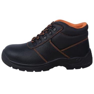 vidaXL Zapatos de seguridad tobillo alto Negros Talla 41 Cuero[4/7]