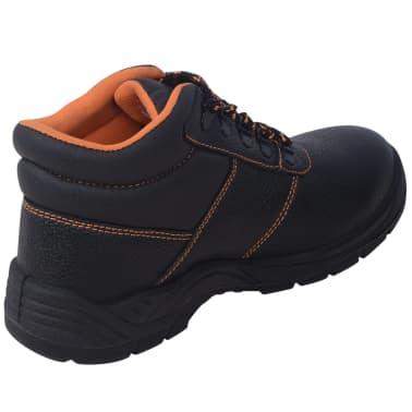 vidaXL Zapatos de seguridad tobillo alto Negros Talla 41 Cuero[5/7]