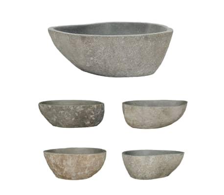 vidaXL håndvask flodsten oval 38-45 cm[2/4]