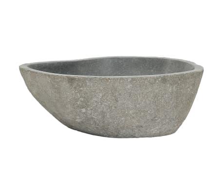 vidaXL Lavabo de piedra natural ovalado 38-45 cm[3/4]