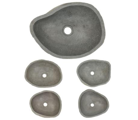 vidaXL Umywalka z kamienia rzecznego, owalna, 38-45 cm[4/4]