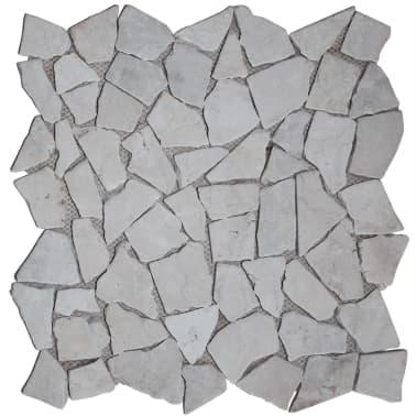 "vidaXL Mosaic Tiles 11 pcs Marble Gold 11.8""x11.8""x0.3""[1/4]"