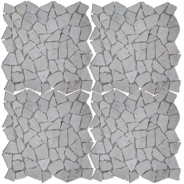 "vidaXL Mosaic Tiles 11 pcs Marble Gold 11.8""x11.8""x0.3""[2/4]"