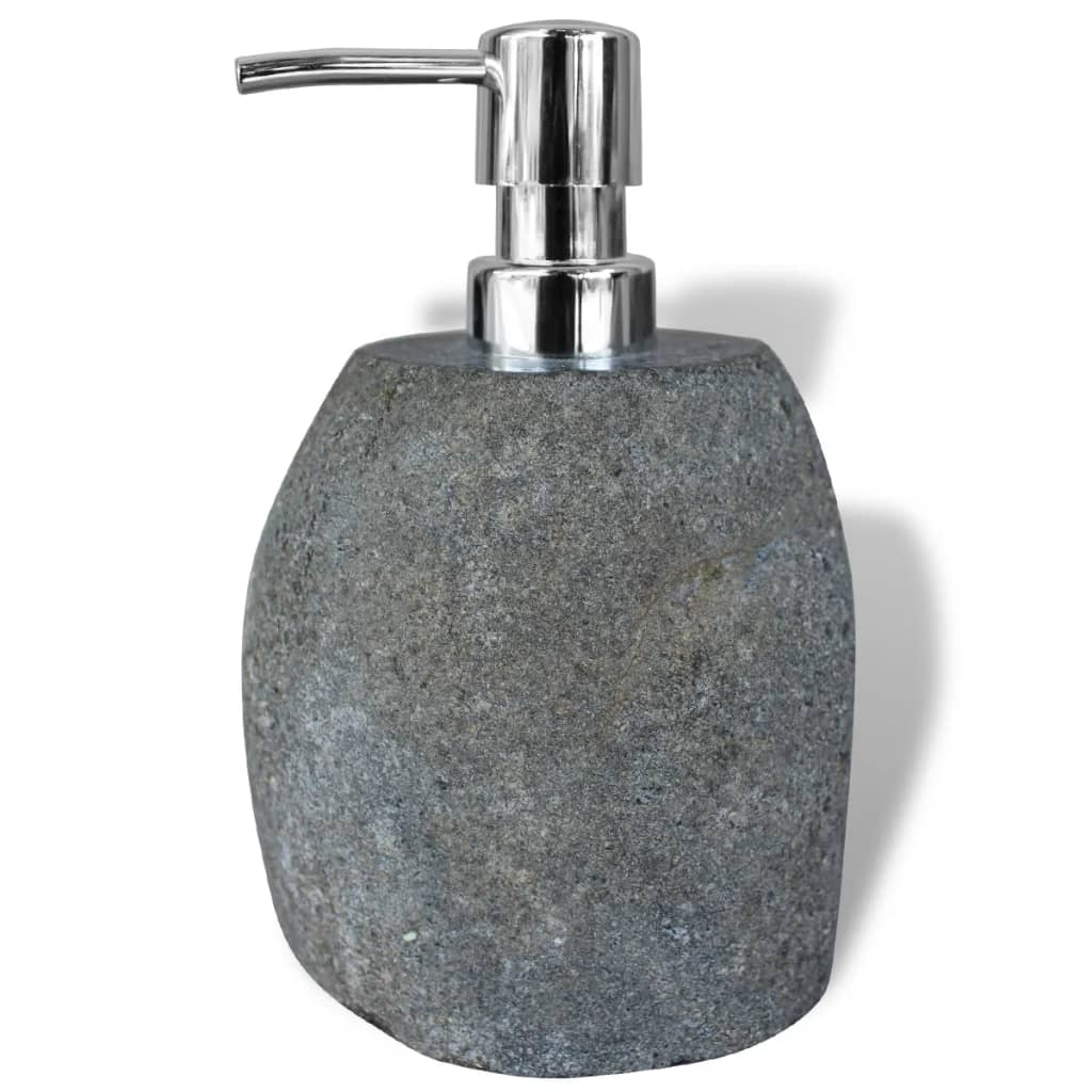 vidaXL Soap Dispenser River Stone 16 cm
