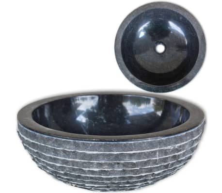 vidaXL Wastafel 40 cm marmer zwart[1/4]