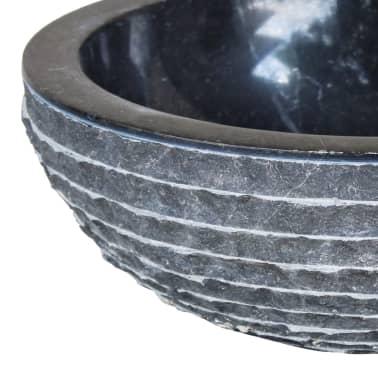 vidaXL Wastafel 40 cm marmer zwart[3/4]