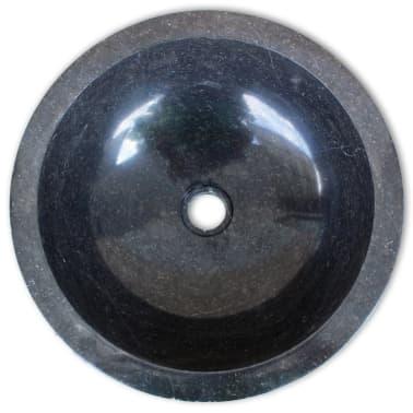 vidaXL Wastafel 40 cm marmer zwart[4/4]