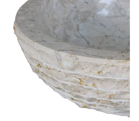 "vidaXL Basin Marble 15.7"" Cream[5/5]"