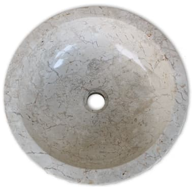 "vidaXL Basin Marble 15.7"" Cream[4/5]"