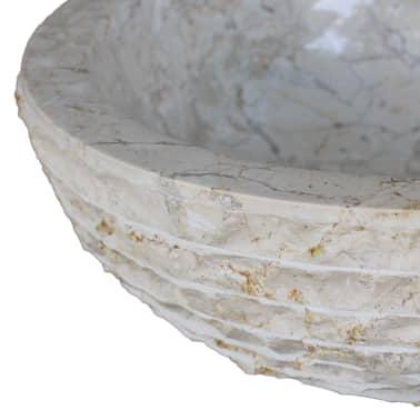 vidaXL Umywalka marmurowa, 40 cm, kremowa[5/5]