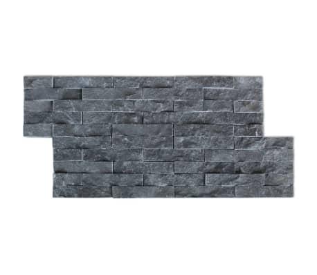 vidaXL Wall Cladding Panels 5 pcs Marble Black[3/4]