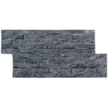 vidaXL Sienų Apdailos Plokštės, 5 vnt., Marmuras, Juodos, 0,5 m2[3/4]