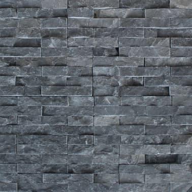 vidaXL Wall Cladding Panels 5 pcs Marble Black[4/4]