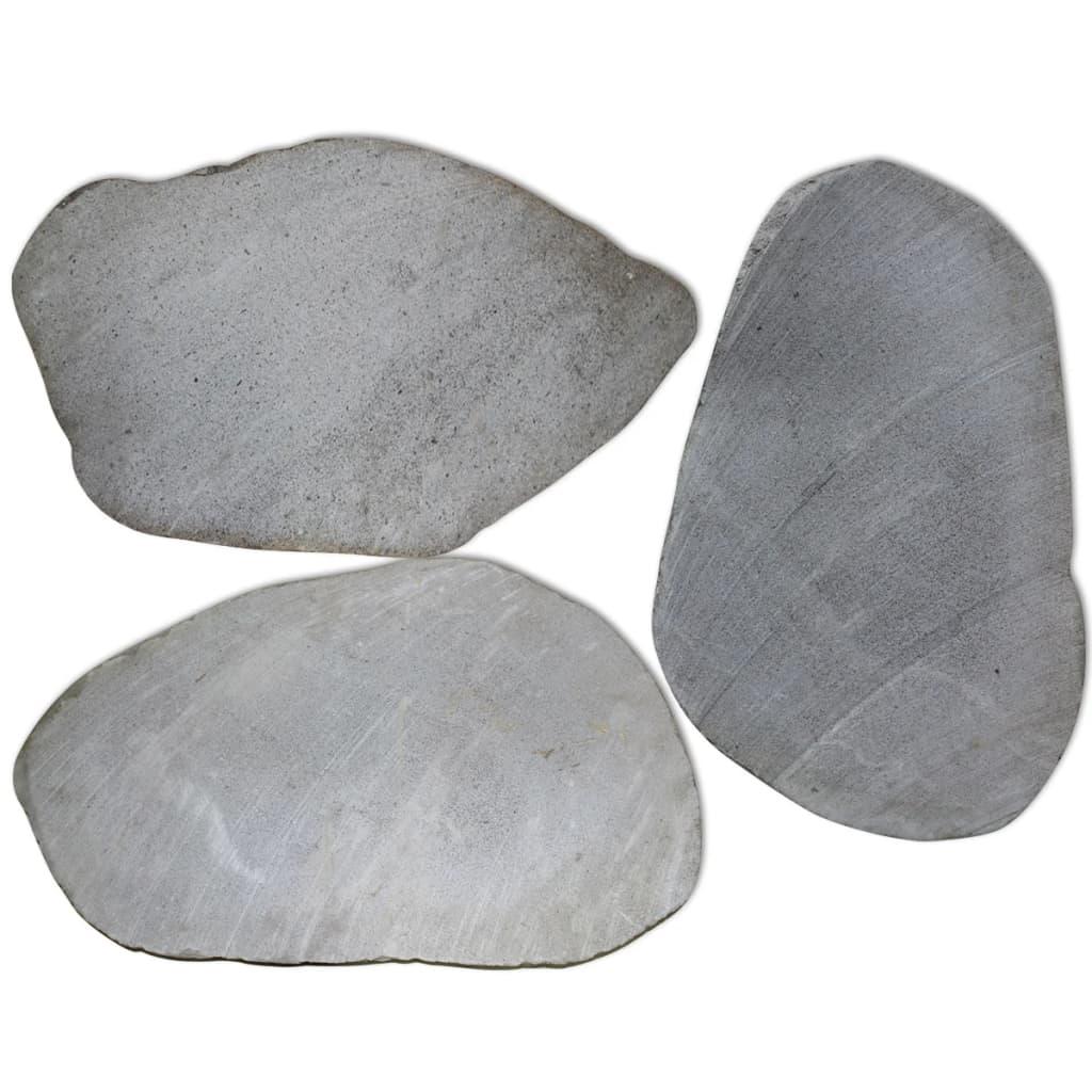 Zahradní nášlapné kameny 3 ks, říční kámen