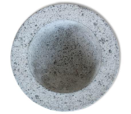 """vidaXL Mortar and Pestle Granite 5.9""""[4/7]"""