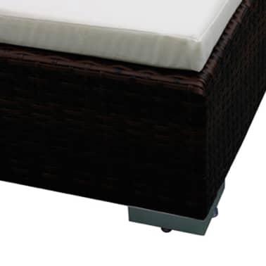 vidaXL 12 Piece Garden Lounge Set with Cushions Poly Rattan Brown[5/8]