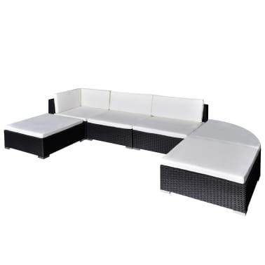 Vidaxl Garden Lounge Set 16 Pieces Poly Rattan Black Vidaxlcom