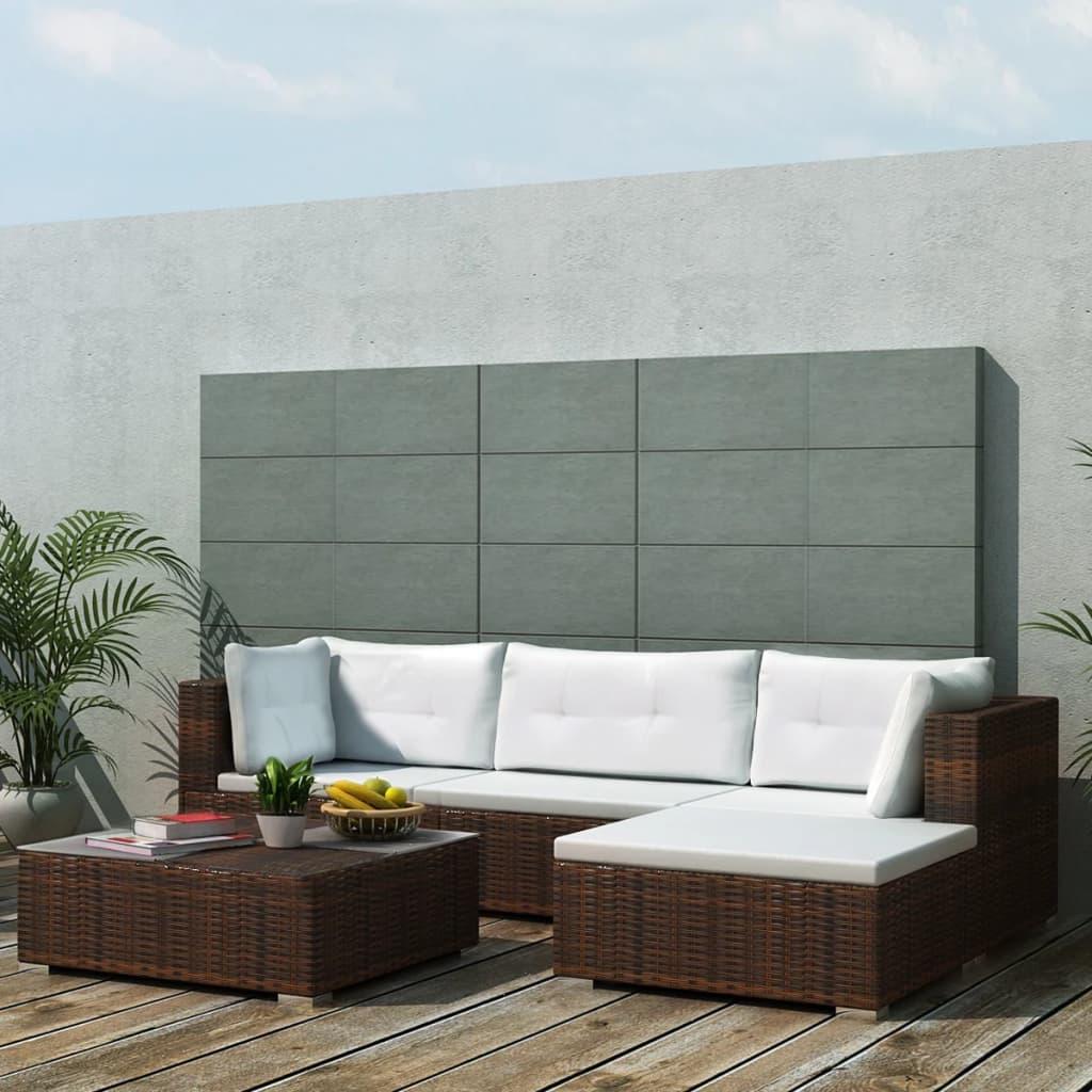 14 Pcs Garden Sofa Set Rattan Indoor Outdoor Lounge Couch Sectional