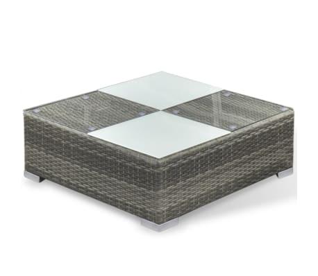 vidaXL 6 Piece Garden Lounge Set with Cushions Poly Rattan Gray[7/7]