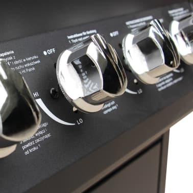 vidaXL Gasbarbecue 4+1 kookzone zwart[4/7]