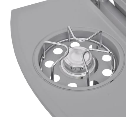 vidaXL Gasbarbecue 4+1 kookzone zilver[6/8]