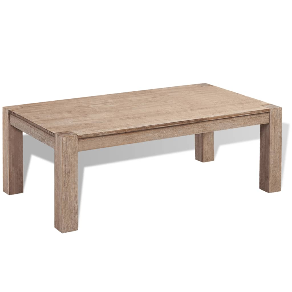 vidaXL Konferenční stolek, kartáčované masivní akáciové dřevo 110x60x40 cm