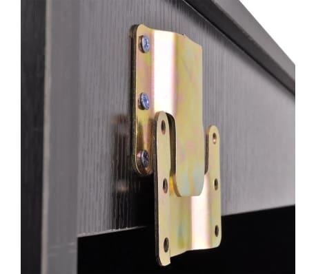 vidaXL 3 elementowy zestaw mebli łazienkowych czarnych i umywalka[5/8]