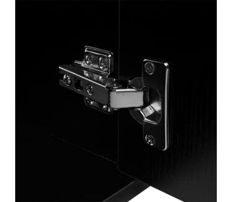 vidaXL Trzyelementowy zestaw do łazienki z umywalką, czarny[5/10]