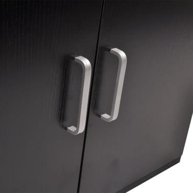 vidaXL Trzyelementowy zestaw do łazienki z umywalką, czarny[4/10]