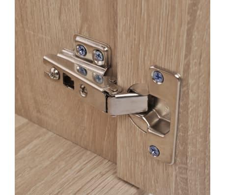 vidaXL Trzyelementowy zestaw do łazienki z umywalką, beżowy[5/10]