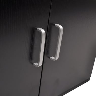 vidaXL 9-Delni Komplet Kopalniškega Pohištva z Umivalnikom Črne Barve[6/14]