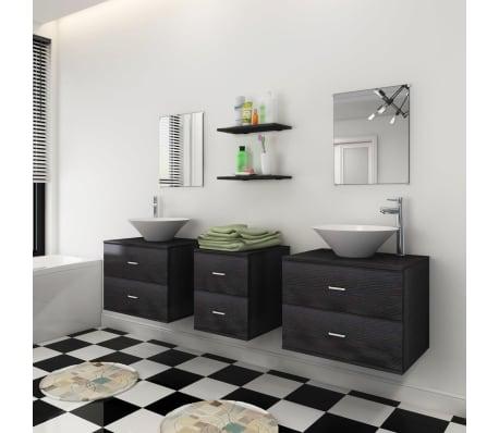 Acheter vidaxl mobilier de salle de bain avec lavabo 7 pcs for Mobilier de bain