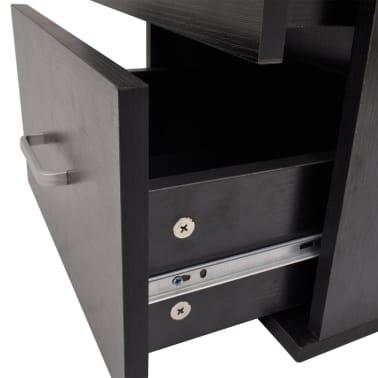 vidaXL Sedem delni komplet kopalniškega pohištva z umivalnikoma črni[5/10]