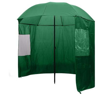 vidaXL Fishing Umbrella Green 240x210 cm