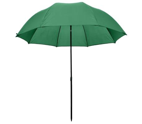 vidaXL Parapluie de pêche vert 240x210 cm[3/7]