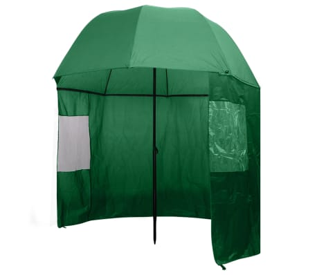 "vidaXL Fishing Umbrella Green 118""x94""[1/7]"
