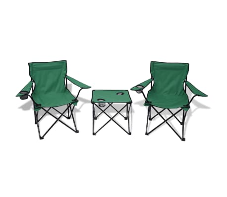 3 tlg campingtisch campingstuhl klappstuhl faltstuhl gartenstuhl grau gr n blau ebay. Black Bedroom Furniture Sets. Home Design Ideas