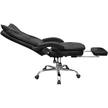 Bureaustoel Met Voetsteun.Vidaxl Bureaustoel Verstelbaar Directie Met Voetsteun Zwart