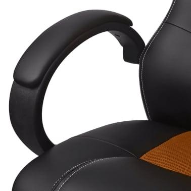 vidaXL Biuro Kėdė, Sportinės Sėdynės Stiliaus, Oranžinė, Dirbtinė Oda[5/6]