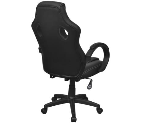 vidaXL Chaise de bureau en cuir artificiel Noir[4/6]