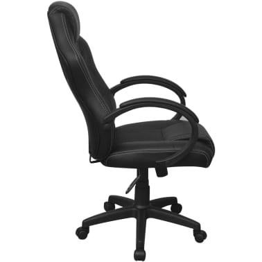 vidaXL Chaise de bureau en cuir artificiel Noir[3/6]