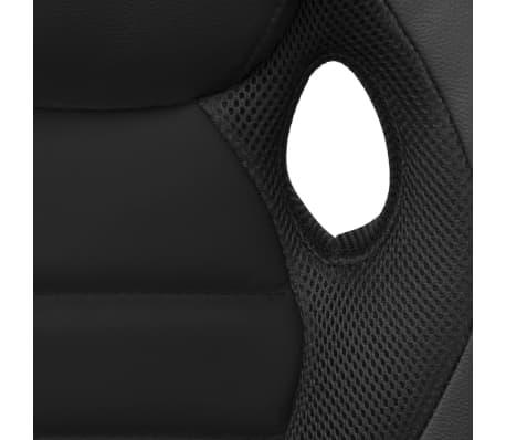 vidaXL Silla de Oficina Ejecutiva de Carreras Color Negro Cuero Sintético[5/6]