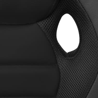 vidaXL Biuro Kėdė, Sportinės Sėdynės Stiliaus, Juoda, Dirbtinė Oda[5/6]