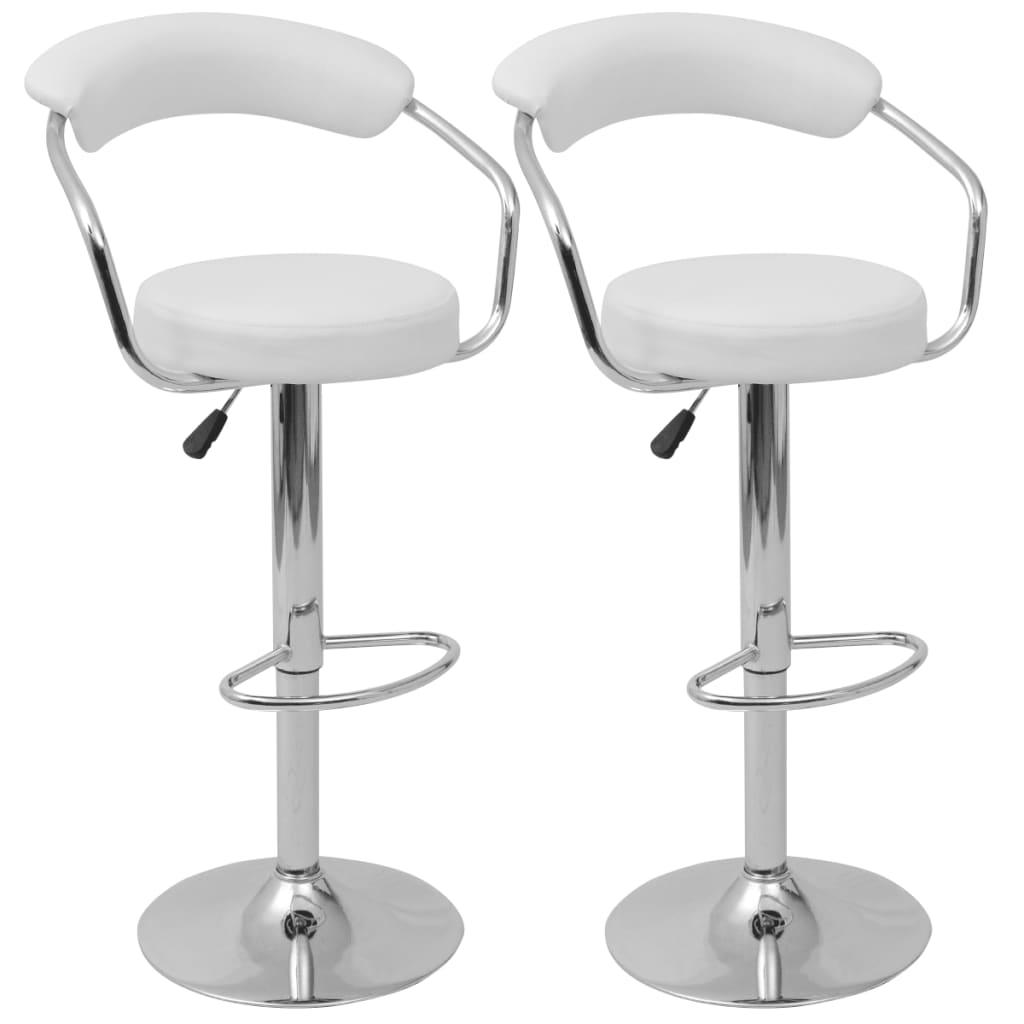 vidaXL Barové židle 2 ks bílé z PU kůže