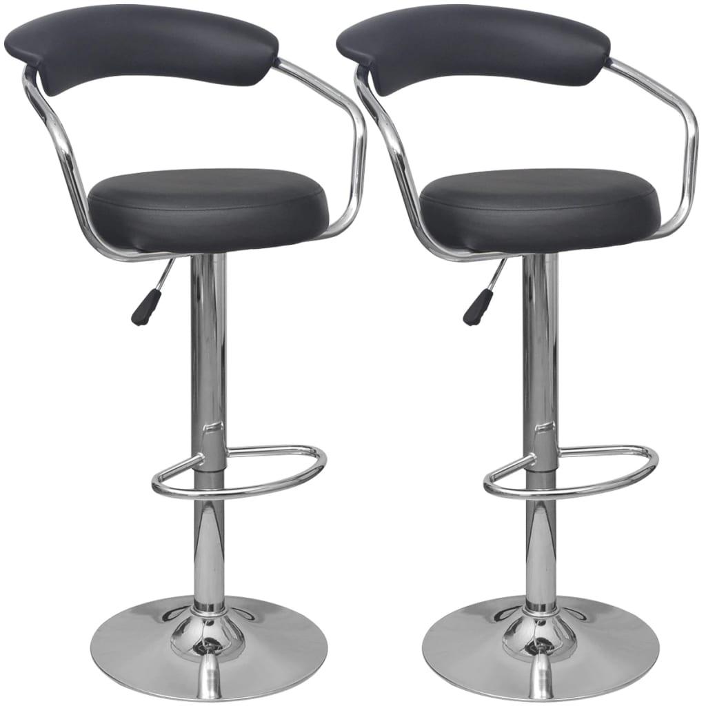 vidaXL Barové židle 2 ks černé z PU kůže