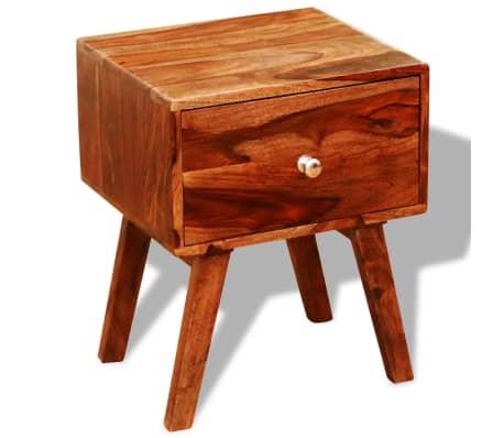 vidaXL 2 szafki nocne z szufladą, lite drewno sheesham, wys. 55 cm[3/5]