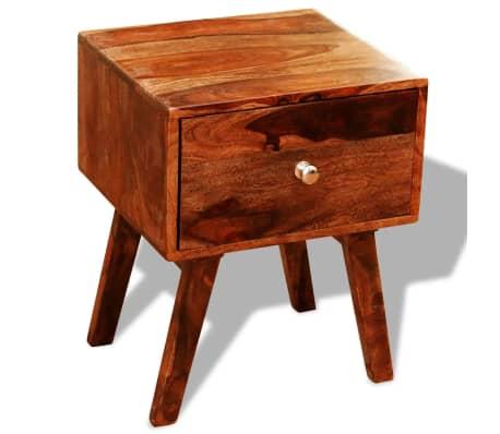 vidaXL 2 szafki nocne z szufladą, lite drewno sheesham, wys. 55 cm[4/5]
