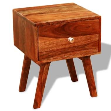 vidaXL 2 szafki nocne z szufladą, lite drewno sheesham, wys. 55 cm[2/5]