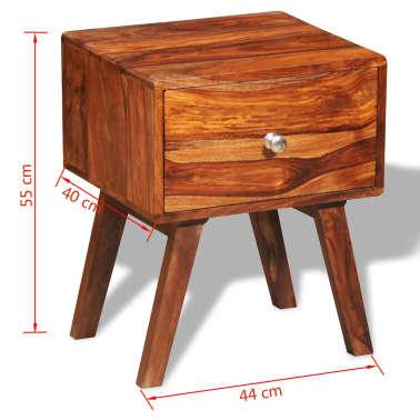 vidaXL 2 szafki nocne z szufladą, lite drewno sheesham, wys. 55 cm[5/5]